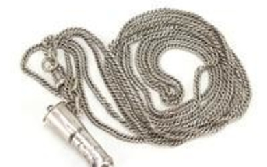 Unmarked silver vinaigrette in the form of a boot on a