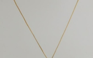 Yellow gold necklace and pendant, 750/000, with