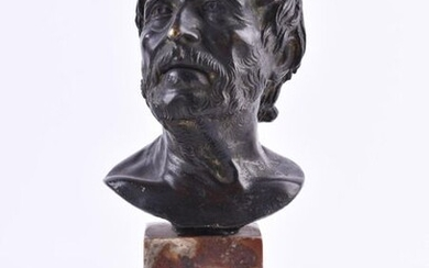 """anonymous artist of the 18th/19th century   anonymous artist of the 18th/19th ct,""""Portrait bust of Seneca""""_x000D_"""