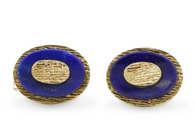 14K Gold & Lapis Cufflinks