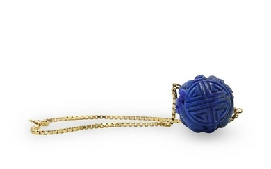 14k Gold and Lapis Bracelet