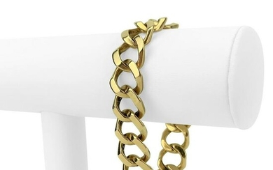 14k Yellow Gold 58.7g Solid Wide 14mm Curb Link