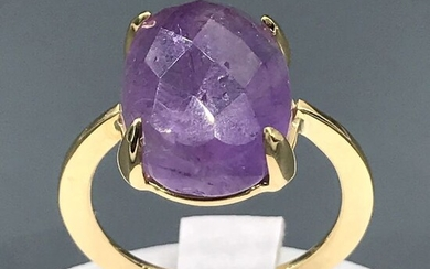 18 kt. Yellow gold - Ring - 9.70 ct Amethyst