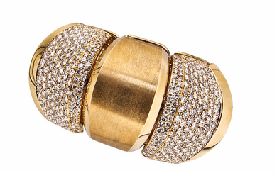 18kt Gold and Diamond Cuff Bracelet