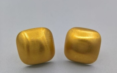 19,2 kt. Yellow gold - Earrings