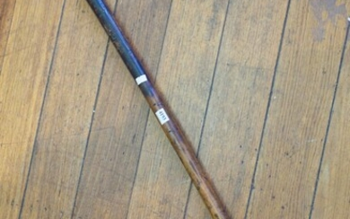 19TH CENTURY ENGRAVED TRIBAL STAFF WALKING STICK