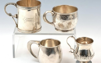 4 American Sterling Silver Cups