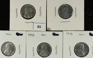 5-1943 LINCOLN STEEL WAR CENTS UNC