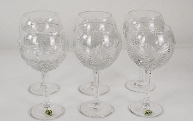 6 Waterford Millennium Cut Glass Wine or Toasting