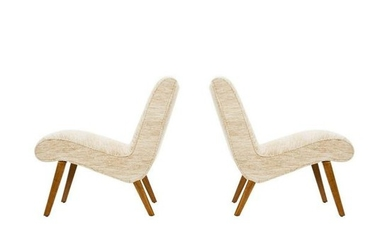 Jens Risom Pair of Lounge Chairs Knoll, USA