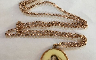 9kt e 14kt Pink gold - Necklace with pendant