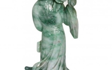 A Jadeite Figure of Guanyin, Chinese