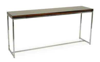 A Lacquered Wood Console Table.