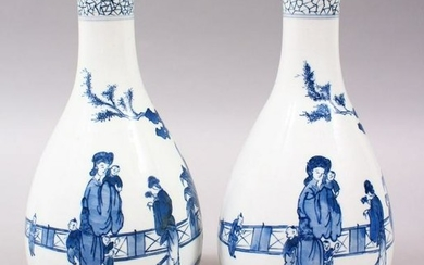 A PAIR OF 19TH / 20TH CENTURY CHINESE BLUE & WHITE