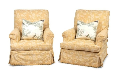 A Pair of Modern Upholstered Bergères