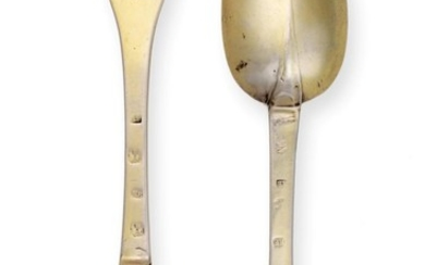 A Pair of William and Mary Silver-Gilt Spoons, by Eli...