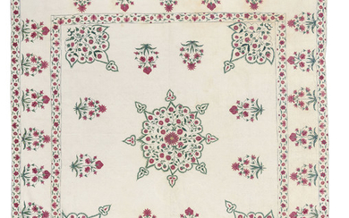 A QUILTED COVERLET, PROBABLY GUJARAT, WESTERN INDIA, 18TH CENTURY