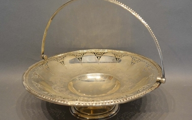A Victorian Sheffield Silver Fruit Basket with pierced and e...