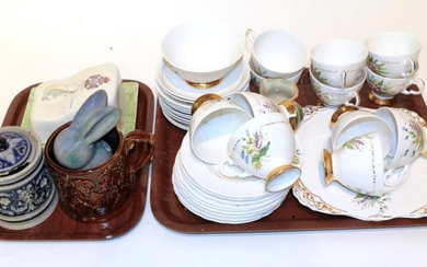 A collection of miscellaneous ceramics including: 19th century treacle glaze...
