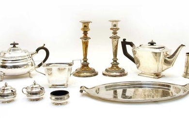 A large collection of silver plated wares