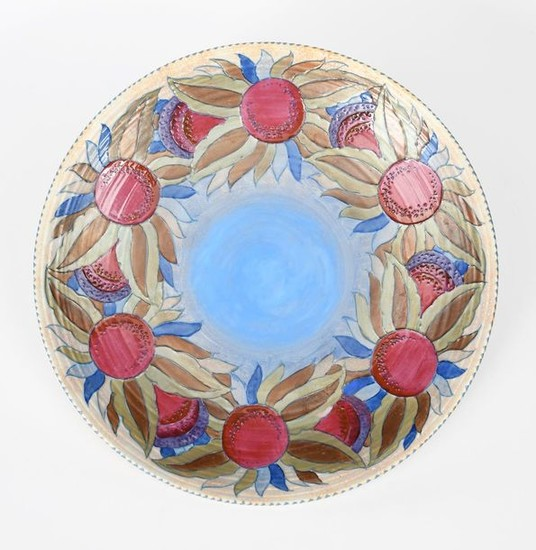 A rare large Crown Ducal Granada wall charger...