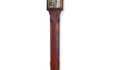 An early 19th century brass mounted mahogany ship's stick barometer