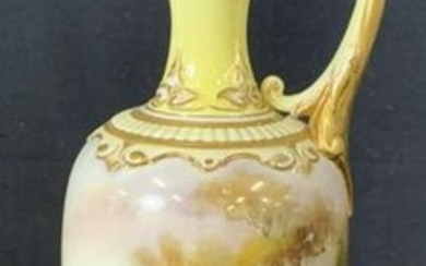 Antique ROYAL WORCESTER Porcelain Pitcher