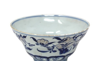 Bowl (1) - Blue and white - Porcelain - Qianlong Mark and Period - China - Qianlong (1736-1795)