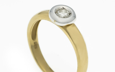 Brillant ring GG / WG 585/000 with 7...