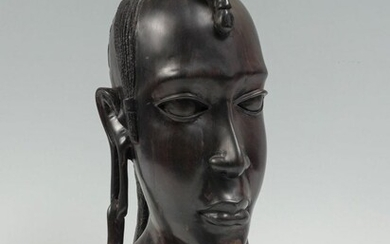 CARVED IRONWOOD AFRICAN BUST