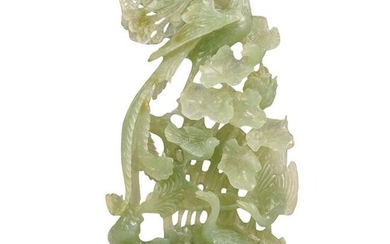Chinese Carved Serpentine Jade Sculpture