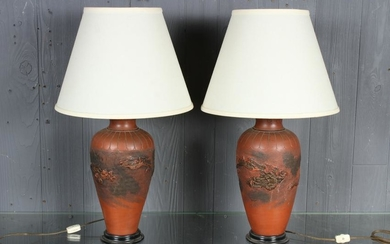 Chinese Yixing Style Jar Lamps
