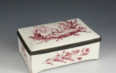 Continental Hand Painted Porcelain Dresser Box