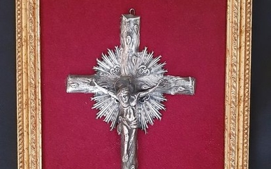 Crucifix, cross N8 (Naples) (1) - Silver - Mid 19th century