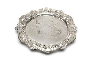 DECORATIVE SILVER TRAY, 622g