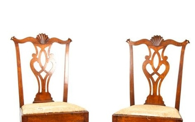 EXCEPTIONAL PHILADELPHIA CHIPPENDALE SIDE CHAIRS