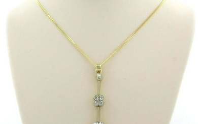 Edwardian diamond pendant, with modern chain