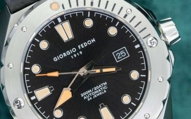 """Giorgio Fedon - Automatic Aquamarine Stainless Steel Blue Dial Brown Leather Strap - GFCJ001 """"NO RESERVE PRICE"""" - Men - 2011-present"""