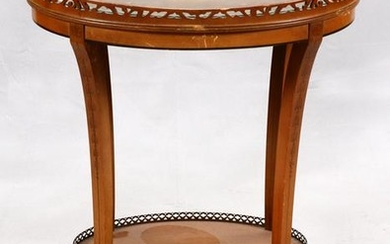 IMPERIAL GRAND RAPIDS OVAL MAHOGANY GALLERY TABLE