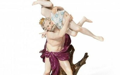 LARGE MEISSEN GROUP 10.25 INCHES HIGH