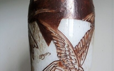 Legras - Vase decorated with seagulls