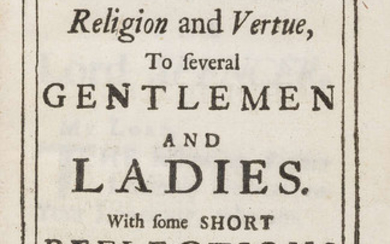 Letters of Religion and Vertue, to several Gentlemen and Ladies, only edition, for Henry Bonwicke, 1695.