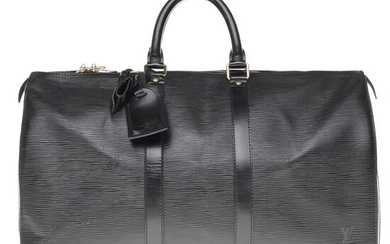 Louis Vuitton - Keepall 45 en cuir épi noir Travel bag