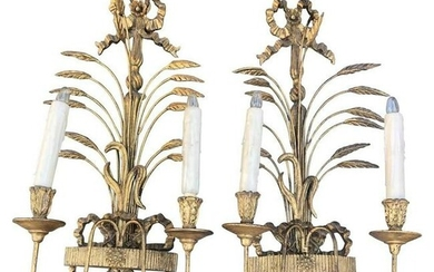 Louis XVI Style Two-Light Sconces