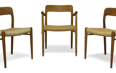 Niels Moller, a model '75' armchair and two side chairs...
