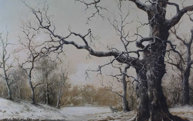 Nils Hans Christianson oil on canvas - Epping Forest