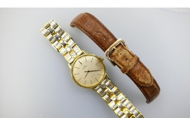 Omega De Ville gent's automatic wristwatch with Seamaster ba...