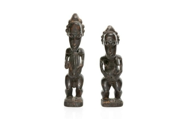 PAIR OF AFRICAN TRIBAL BAULE FIGURES