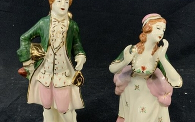 Pair Ceramic Figurines
