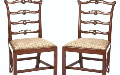 Pair Philadelphia Chippendale Side Chairs attr.